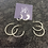 Thumbnail: Sterling Silver Hammered Hoops