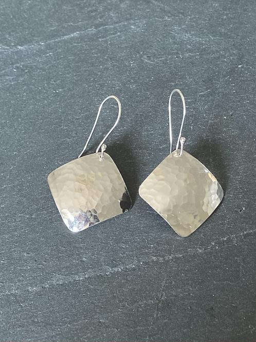 Sterling Silver Diamond Earring Drops