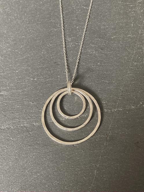 Sterling Silver Triple Hoop Pendant