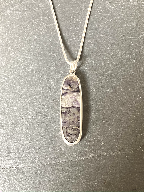 Indian Jasper and Sterling Silver Pendant