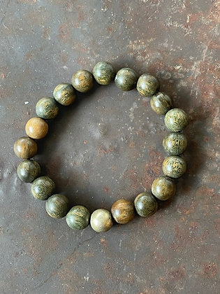 Armband Holzperlen grün