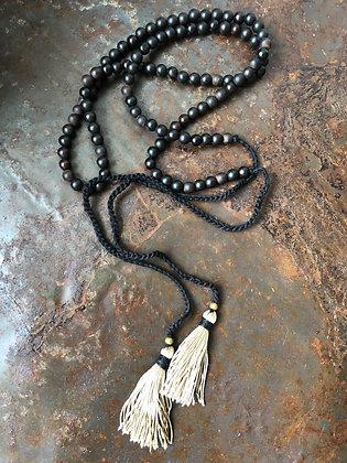 Halskette Holzperlen offen