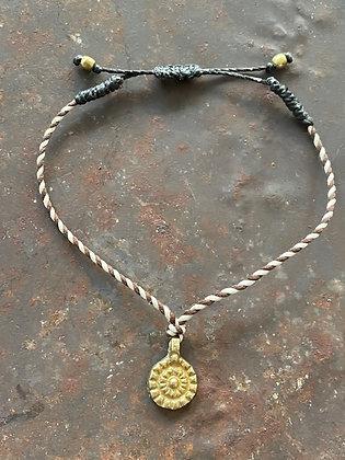 Armband Textil braun/weiss