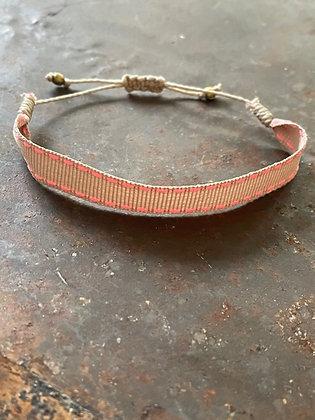 Armband Texil pink/beige