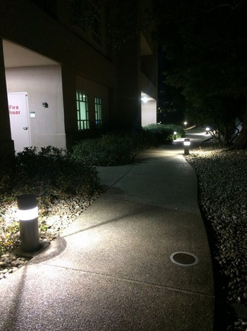 Sidewalk lighting