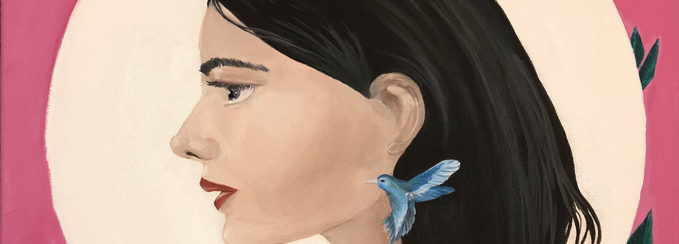 Puipui - Jane, Oil on Canvas, 50cm x 60c
