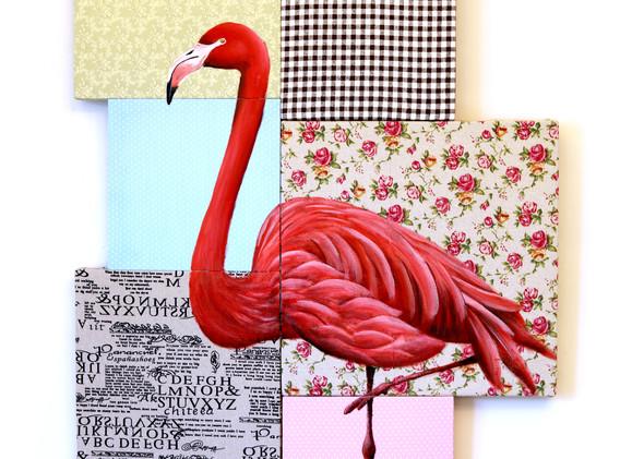 Leon Lollipop Flamingo  Mosaic (70cm x 9