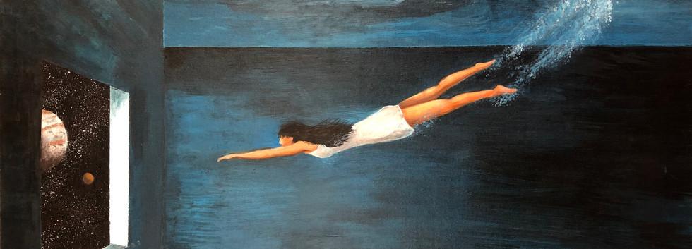 Jas Wong - Somewhere, Acrylic on Canvas,