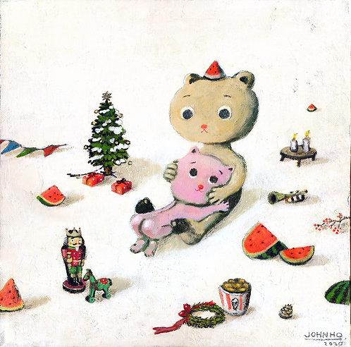 I want watermelon, for my christmas feelin' by John Ho