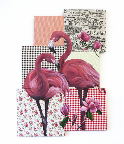 Flamingo Mosaic #2 by Leonlollipop