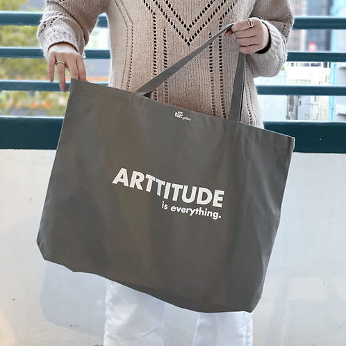 "Art tu: Gallery ""Arttitude"" 大帆布環保袋 - 灰色"