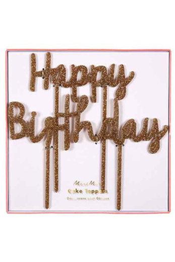 Cake Topper (Happy Birthday)