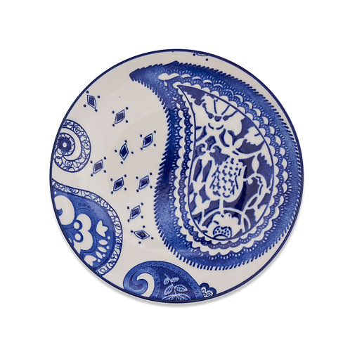 Small Round Paisley Plates (set of 4)