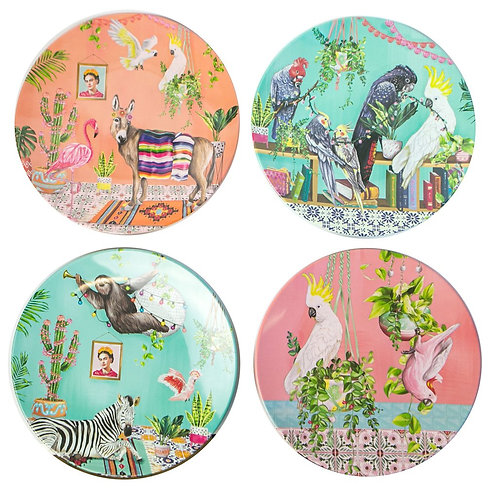 Tropical Abode Plate Set
