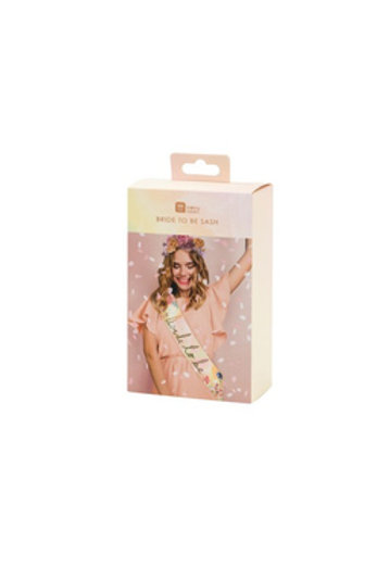 Bride to be Paper Sash