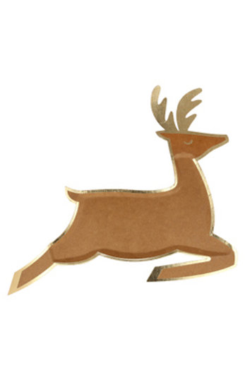 Leaping Reindeer Paper Plates (set of 16)
