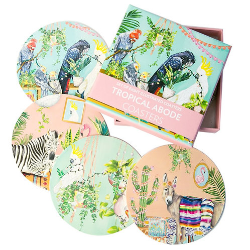 Tropical Abode Coasters