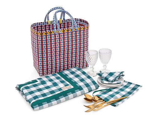 Chic-nic with Green Gingham Collection