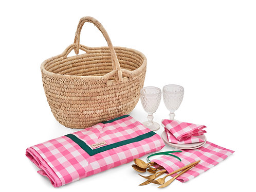 Picnic Essentials with Pink Gingham Collection
