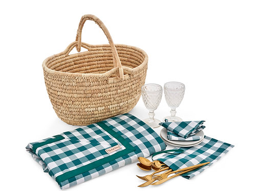 Picnic Essentials with Green Gingham Collection