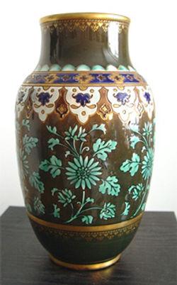 Pair of Sarreguemines Vases