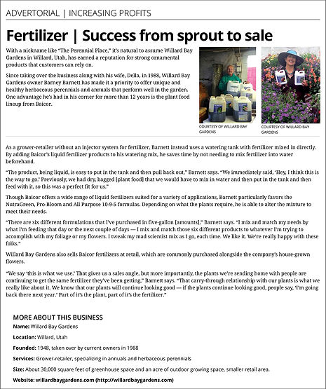 Advertorial, Fertilizer success from sprout to sale