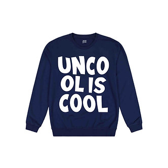 Uncool is Cool Crewneck (Navy Blue)