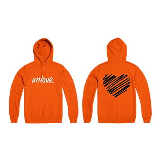 unLove Hooded Fleece (Orange)