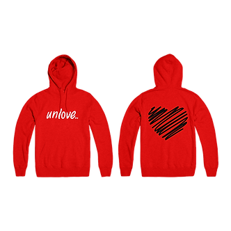 unLove Hooded Fleece (Red)
