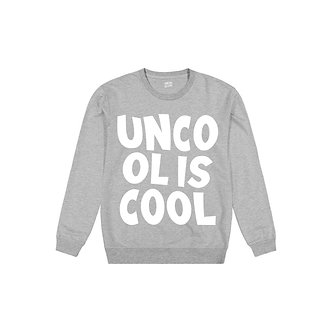 Uncool is Cool Crewneck (Grey)