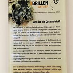 Acrylglas-Schild mit Digitaldruck beschriftet