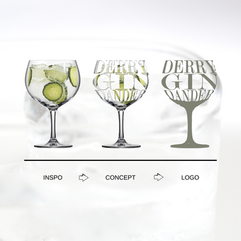 Derry Gin Dander Logo Process