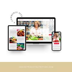 Janice Tracey Nutrition Website Design