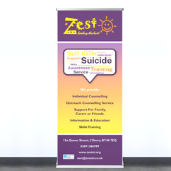 Zest Healing The Hurt Roller Banner Design