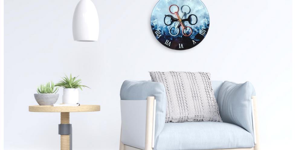 Ritzy Glass Wall Clock