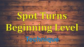 Spot Turns Beginning Level