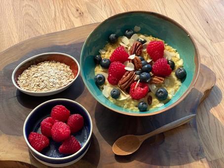 Golden Milk Porridge with Fruits & Nuts