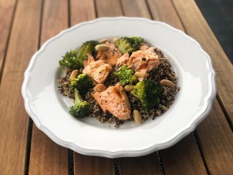 Salmon with Quinoa & Roasted Broccoli