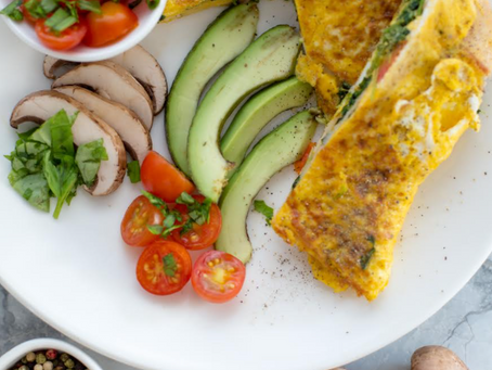 Smoked Turkey & Spinach Omelette