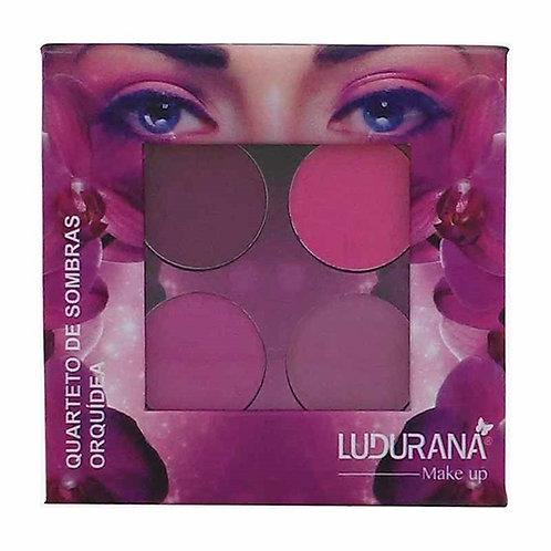 Quarteto de Sombras Matte Orquídea 4g - Ludurana