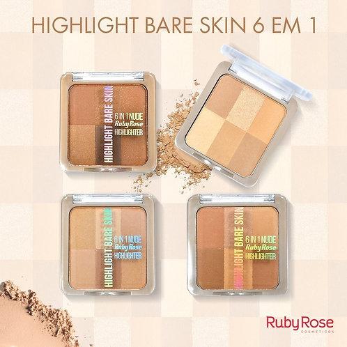Pó Iluminador Bare Skin Ruby Rose