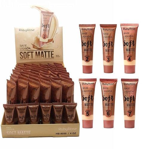 Base Líquida Soft Matte 1, 2, 3, 4, 5, 6, 7 - Ruby Rose