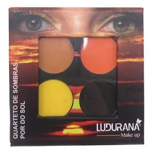 Quarteto de Sombras Matte Pôr do Sol 4g - Ludurana