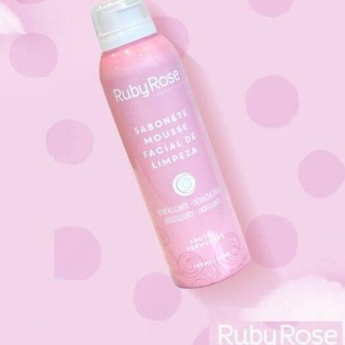 Sabonete Mousse Facial de Limpeza Frutas Vermelhas Ruby Rose HB-321