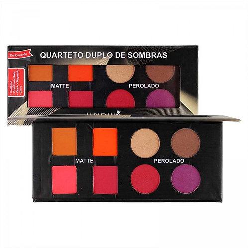 Quarteto Duplo de Sombras 8 Cores Ludurana