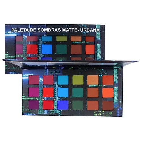 Paleta de Sombras Matte Urbana 18 Cores Ludurana