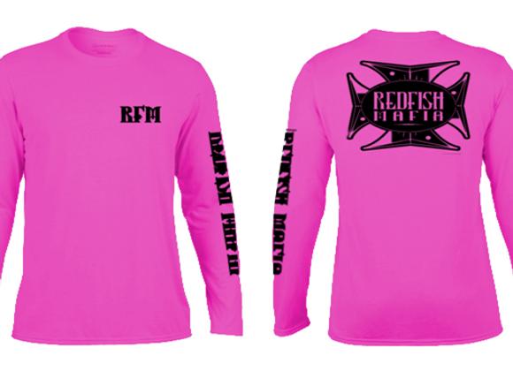 RFM Pink with Black Performance Shirt (unisex)