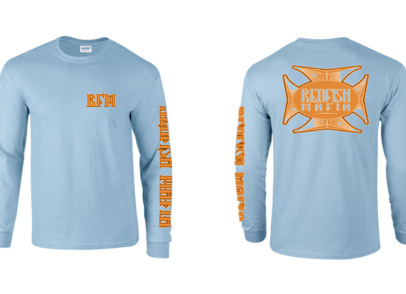 RFM Light Blue with Orange Performance Shirt
