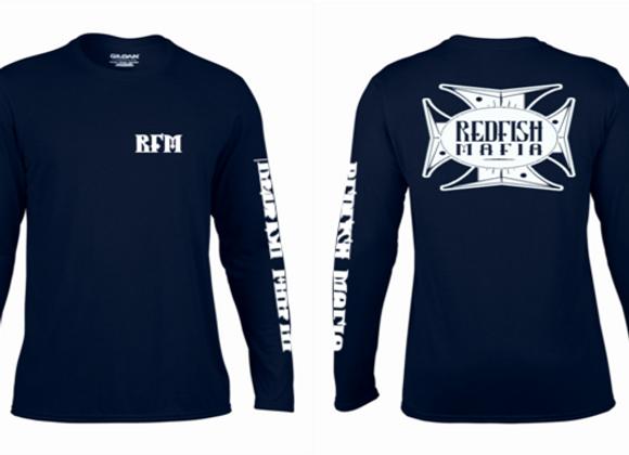RFM Blue with White Performance Shirt