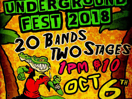 "FIRST ANNUAL ""FLORIDA UNDERGROUND FEST"" COMES TO MILL'S AVE IN ORLANDO"